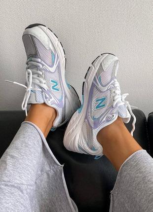 Женские кроссовки new balance 530 silver/blue.