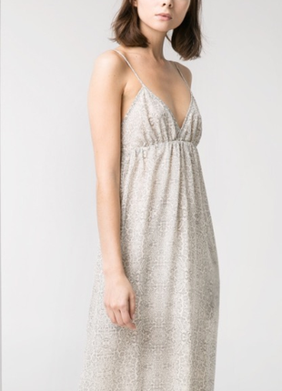Платье-сарафан с открытой спиной mango / m / цвет серый