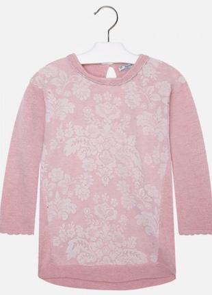 Новое. розовое вязаное платье на девочку 128 рост mayoral 4932-27. испания. оригинал.