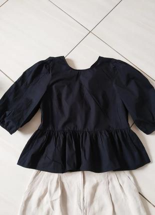 Стильні блузи з сексуальним вирізом і завязками на спині топ zara