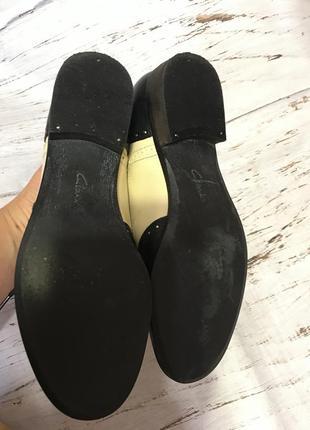 Кожаные туфли clarks р 355 фото