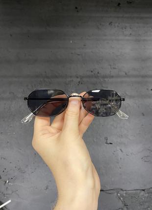 ❌уценка❌прямоугольные очки солнцезащитные чёрные в чёрной оправе женские/мужские унисекс