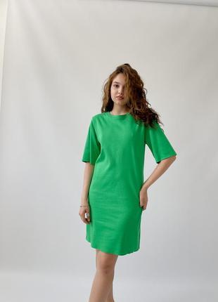 Базовое летнее платье-футболка из хлопка