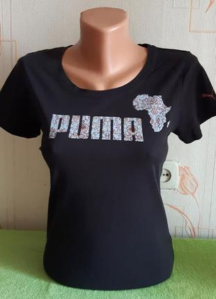 Яркая оригинальная футболка puma original, 💯 оригинал, молниеносная отправка 🚀⚡