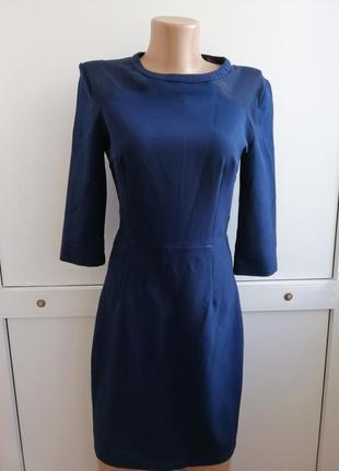 Платье женское синее короткое