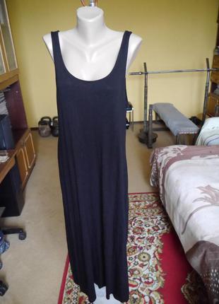 Плаття чорне довге , як майка на розмір l h&m
