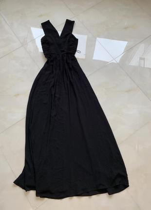 Платье mango в пол с красивой спиной
