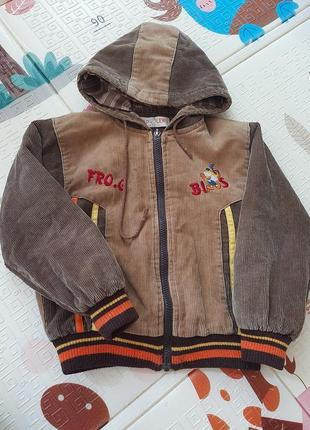Вельветова курточка на підкладці