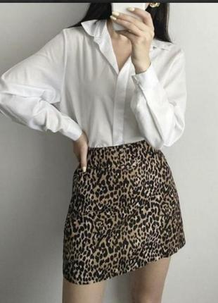 Очень стильная юбка в леопардовый принт s-m