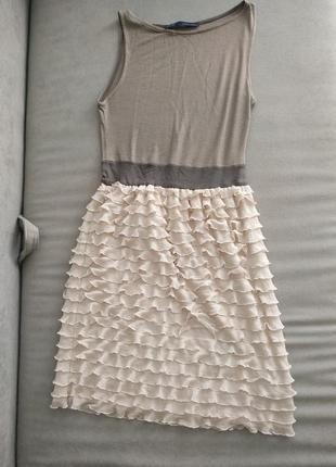 Платье zara , платье , полосатое платье