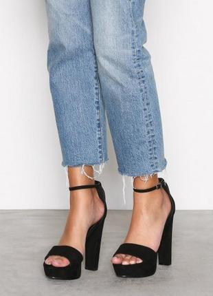 Шикарные бархатные босоножки из эко замши от nly shoes
