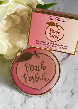 Too faced peach perfect пудра для лица 35 гр !!!! сша оригинал