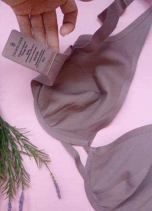 Classic unlined plunge bra  фиолет5 фото