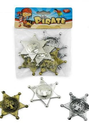 Маскарадный набор аксессуаров для пиратской вечеринки- 6 шт