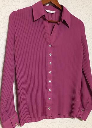 Шикарная блузка рубашка плисе💖