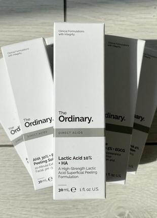 Молочный пилинг 10% the ordinary lactic acid 10% + ha 2%