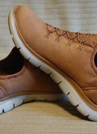 Легчайшие фирменные текстильные кроссовки карамельного цвета skechers air-cooled memory foam 37 1/2