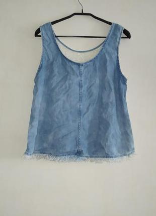 Блуза с лиоцела с вышивкой