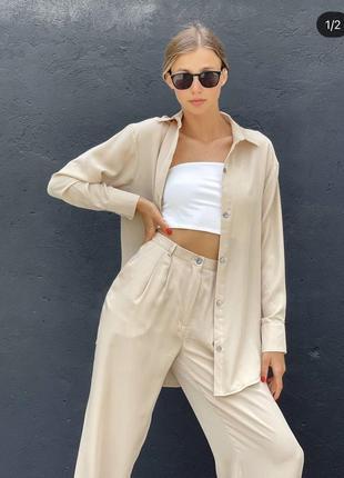 Костюм брюки та сорочка українського бренду voya (брюки и рубашка)