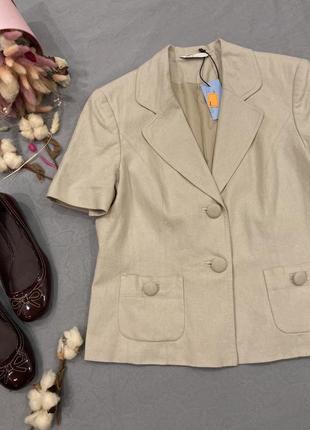 Лен льняной жакет пиджак bhs в стиле zara boohoo