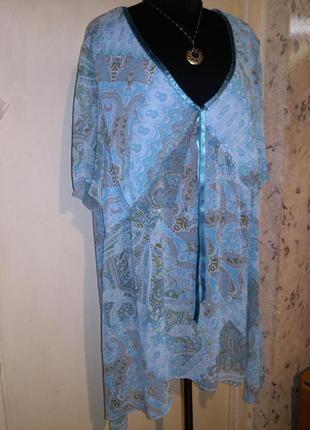 Невесомая,асимметричная блузка,пляжная туника,большого размера,ulla popken