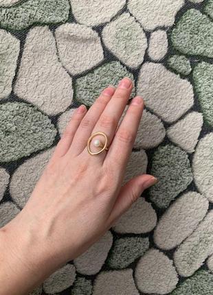 Нежное новое кольцо, колечко с жемчугом бохо стиль