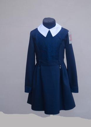 Дуже красиве плаття з довгими рукавами та коміром на гудзиках
