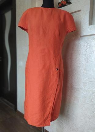 Платье лён original gianni versace