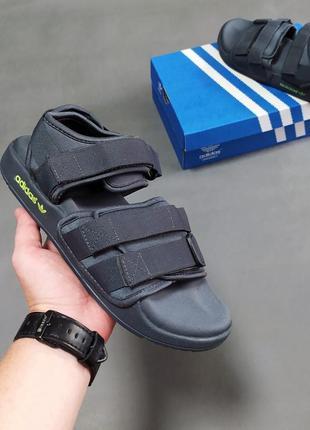 Мужские сандалии adidas adilette sandals серые🔝