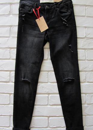 Черные джинсы с серым оттенком jennyfer
