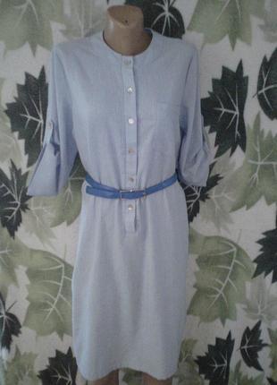 Льняное платье-рубашка рубашка длинная лен льоновое туника платье.
