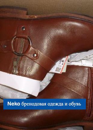 Zara оригинал ботинки натуральная кожа