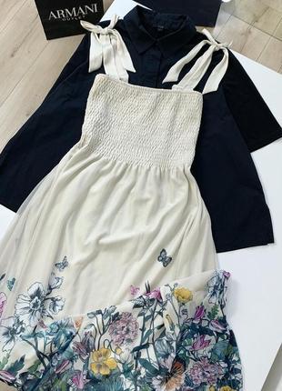 Летнее платье, сарафан zara миди