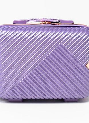 Чемодан дорожный (кейс-пилот) пластиковый мини wn01 xs wings ( фиолетовый / silver purple )