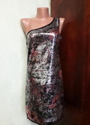 Нарядное клубное платье в паетках