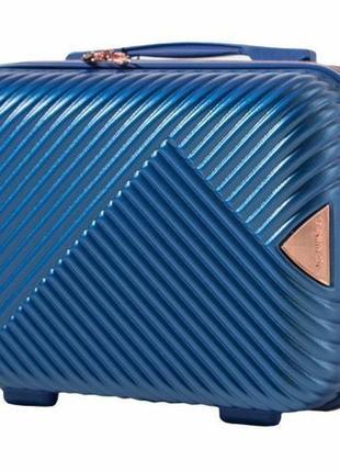 Чемодан дорожный (кейс-пилот) пластиковый мини wn01 xs wings ( голубой / middle blue )