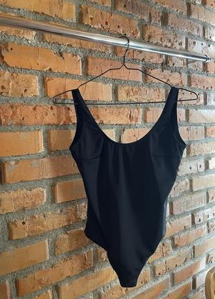 Слитный чёрный купальник xs new