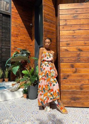 Шикарное платье штапель