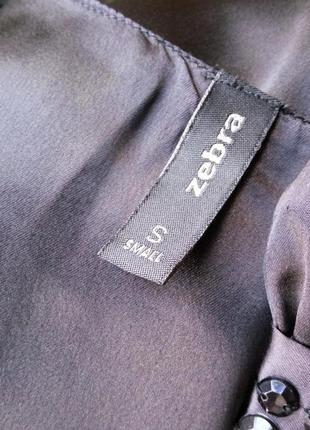 Вечернее/ коктельное нарядное чёрное атласное платье zebra xs/s а-силуэт5