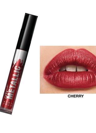 Жидкая матовая помада металлический эффект вишневый металлик mattetallic cherry 3 мл