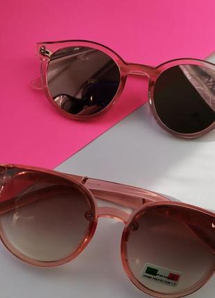 Имиджевые очки, розовые солнцезащитные очки