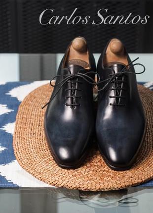 Оксфорды премиум класса carlos santos, португалия 43 мужские туфли кожаные