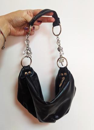 Шикарная маленькая сумочка багет бананка мини