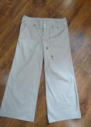 Новые стильные брюки в полоску, тауп цвет, полоска