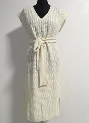 Платье с кашемиром massimo dutti