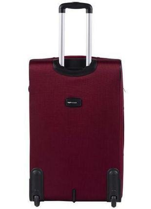 Чемодан тканевый дорожная сумка на 2 колёсах большой wings 1605 l ( бордовый / red )