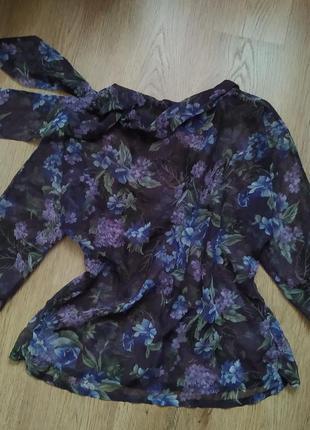 Шикарная шифоновая блузка элегантная hand made