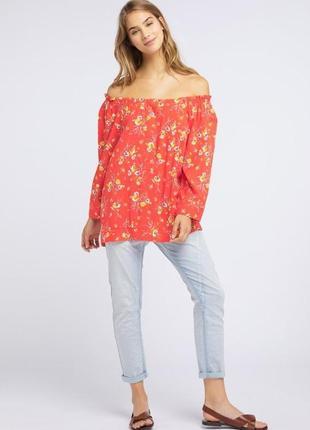 Блузка рубашка 100% вискоза оверсайз блуза р.s-m бренд broadway германия