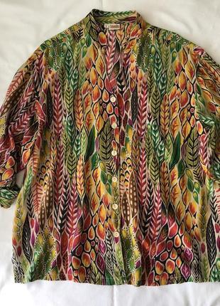 Шелковая блуза-рубашка tianello. 🇺🇸 шёлк 100%