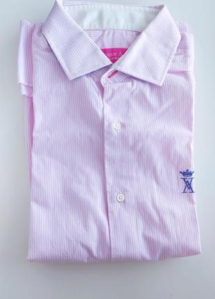 Рубашка в полоску нежно-розового цвета французского бренда vicomte a.